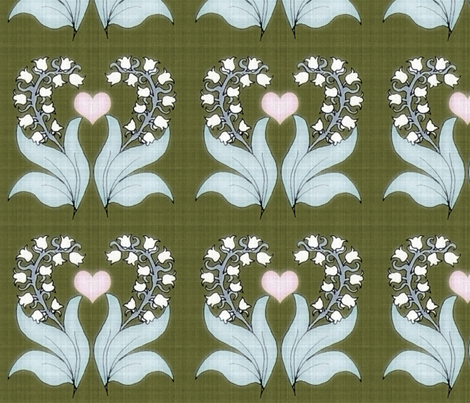 lily of the valley fabric by weejock on Spoonflower - custom fabric