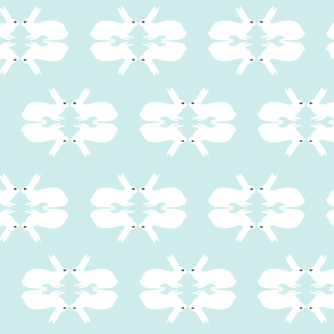 Lucky Love- pale blue fabric by st-illustration on Spoonflower - custom fabric