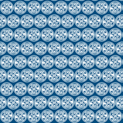 Seal of Rassilon - White on Blue - large