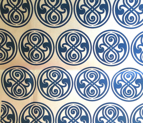 Seal of Rassilon - Blue on White - large