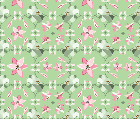 Lilies bright fabric by fossan on Spoonflower - custom fabric