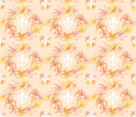 Fleur-De-Lis  fabric by graceful on Spoonflower - custom fabric