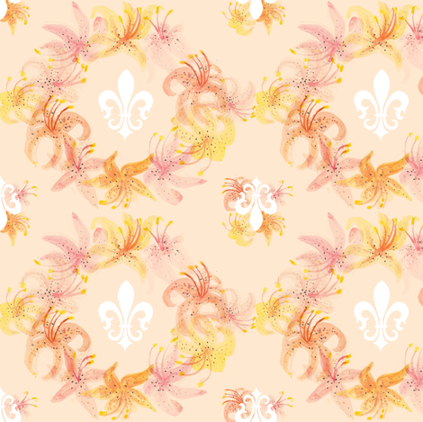Fleur-De-Lis  fabric by graceful on Spoonflower - custom fabric