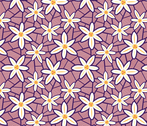 Lilies Purple fabric by brendazapotosky on Spoonflower - custom fabric