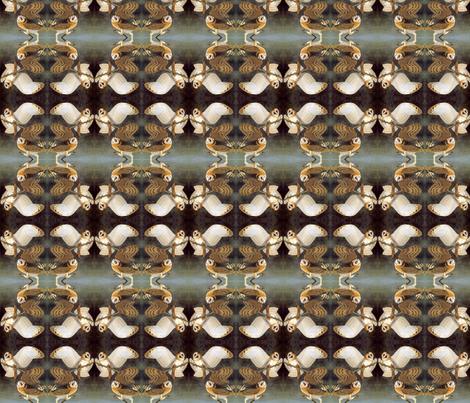 Audubon Hoot Wallpaper Dscougar Spoonflower