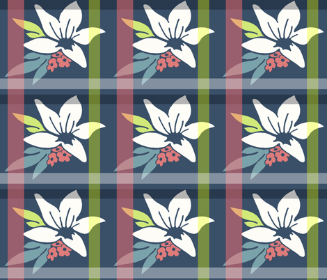 Lily Plaid fabric by upstyle_design on Spoonflower - custom fabric