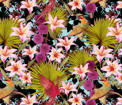 jungle lily fabric by kociara on Spoonflower - custom fabric