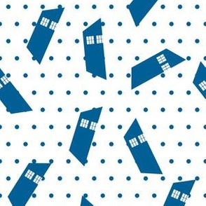 Police Box Trapezoids with dots