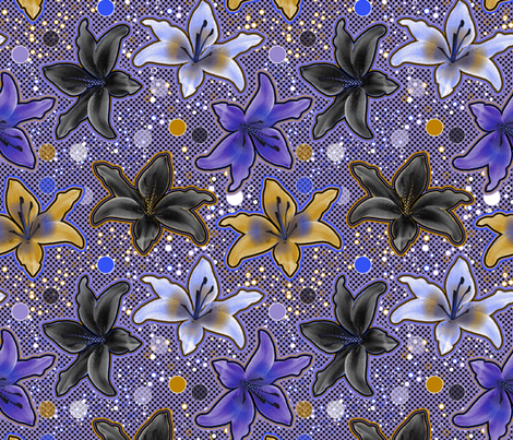 Lys (Color2) fabric by vannina on Spoonflower - custom fabric