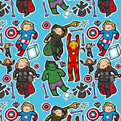 Avengers Fabric (blue)