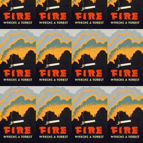 Fire Wrecks a forest WPA poster