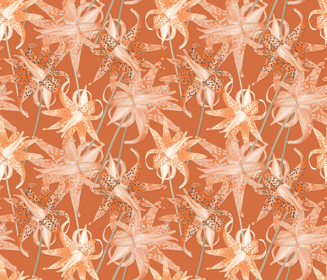 Tiger_Lilies fabric by j9design on Spoonflower - custom fabric