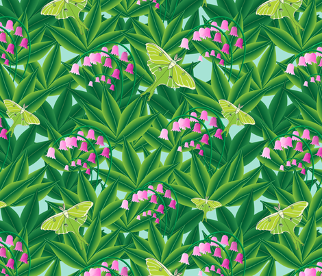 Rousseau's Lily patch fabric by shellypenko on Spoonflower - custom fabric