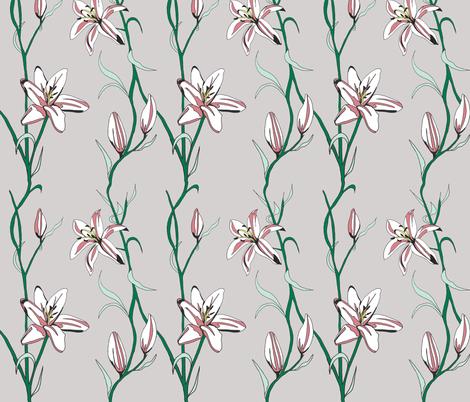 Lilies fabric by megtannahill on Spoonflower - custom fabric