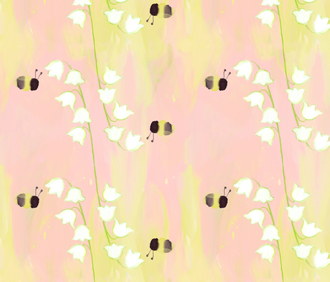 Lily of the Valley ~ May fabric by valdraws on Spoonflower - custom fabric