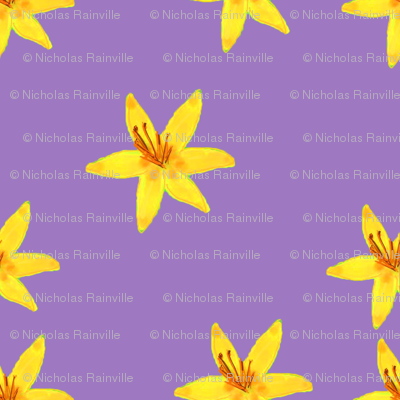 Scattered Lilies (Purple)