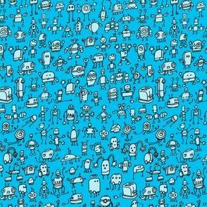 Robots-01, blue on blue