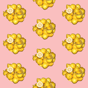 Lemons on Pink