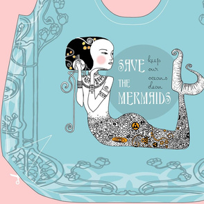 Save The Mermaids - Reversible Bag