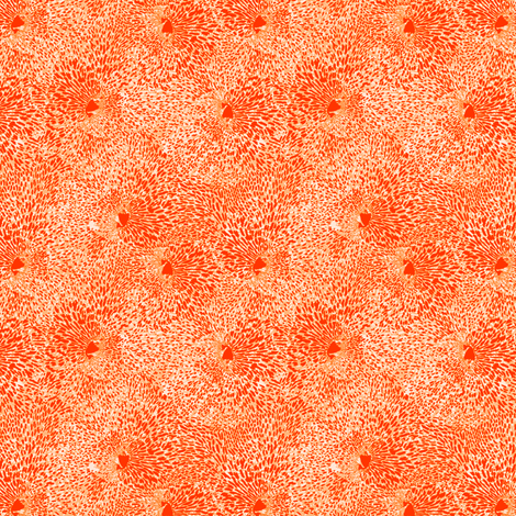 Orange Tiger Lily fabric by rubydoor on Spoonflower - custom fabric