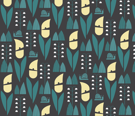 Snails in the Shadows fabric by chris_jorge on Spoonflower - custom fabric