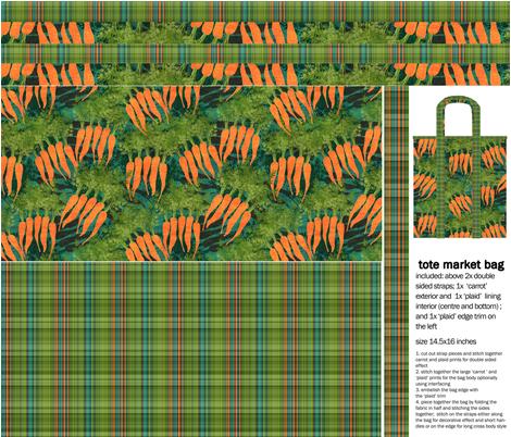 'tasty carrots' tote market bag fabric by kociara on Spoonflower - custom fabric