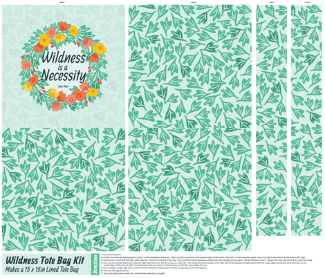 Wildness is a Necessity Tote Kit fabric by wildnotions on Spoonflower - custom fabric