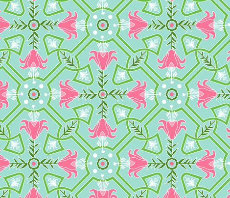 Lillies fabric by anderson_lee on Spoonflower - custom fabric