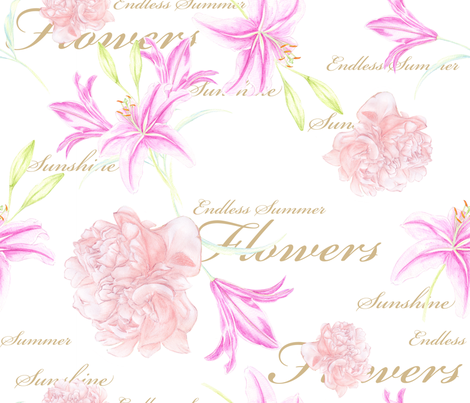 Lilly_Endless_Summer_rose150dpi fabric by funkenflug on Spoonflower - custom fabric