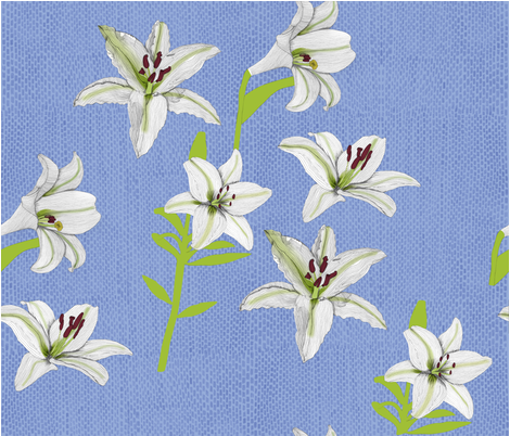 Pick_a_lily fabric by owlsquirrel&twobirds on Spoonflower - custom fabric
