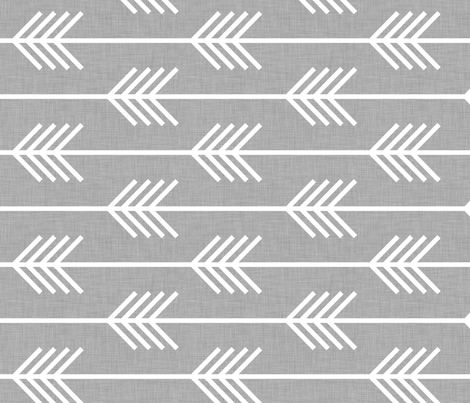 arrows_light_grey_horizontal fabric by holli_zollinger on Spoonflower - custom fabric