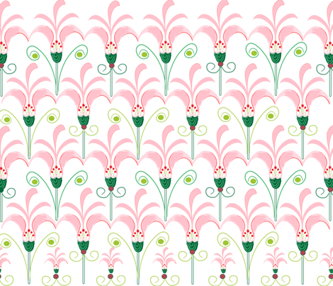 SOOBLOO_LILIES_FOUR-C fabric by soobloo on Spoonflower - custom fabric