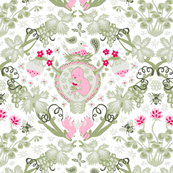 The Birds and the Bees - Fertility Damask