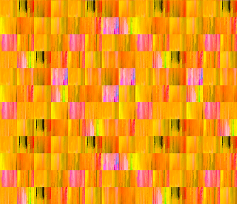 Bright_Orange_Tiles fabric by koalalady on Spoonflower - custom fabric