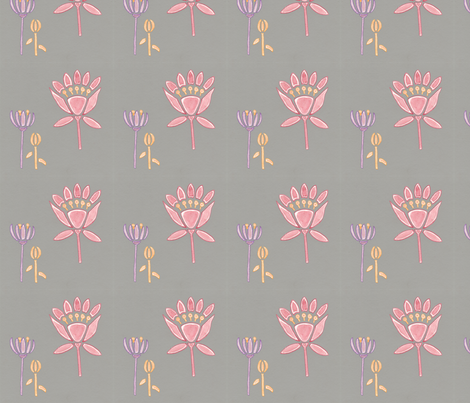 Lilies fabric by t-w-i-n-k-l-e on Spoonflower - custom fabric