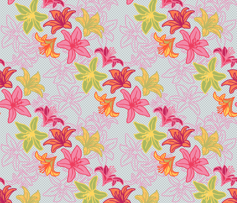 LiliesContest fabric by lovelyjubbly on Spoonflower - custom fabric