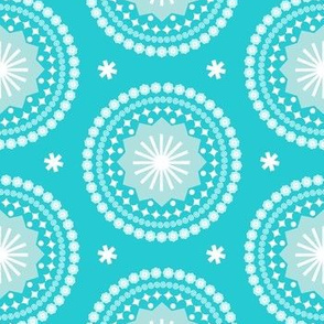 Bandana* (Ultraviolet) || scarf handkerchief stars starburst circles flowers fireworks geometric western mandala