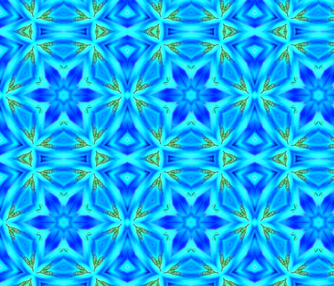 Watercolor drip dye kaleidoscope2_ fabric by koalalady on Spoonflower - custom fabric