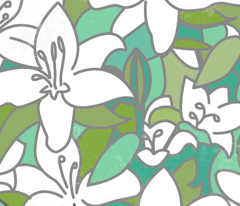 lillies fabric by lusyspoon on Spoonflower - custom fabric