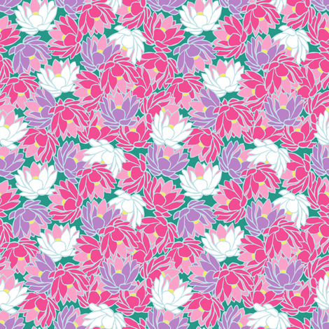 Water Lilies fabric by arttreedesigns on Spoonflower - custom fabric
