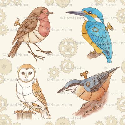 Steampunk Clockwork Birds