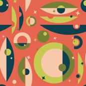 Mid-Century Modern - Circle Stars (Shrimp)