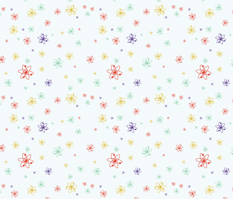 Ditsy Atom - Multi fabric by studiofibonacci on Spoonflower - custom fabric
