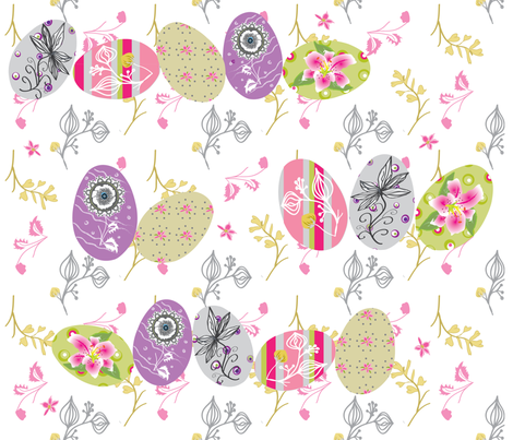 Lily Hunt fabric by cinthr on Spoonflower - custom fabric
