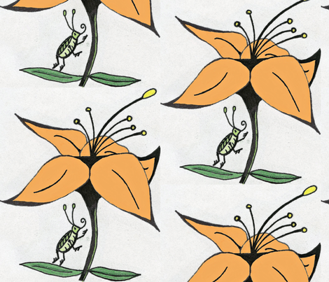 Lillybug Life fabric by jennerbug on Spoonflower - custom fabric