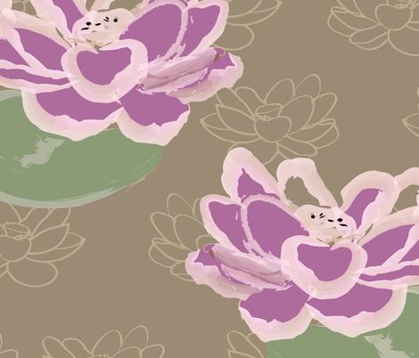 lotus-ed fabric by yr_13 on Spoonflower - custom fabric