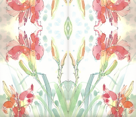 Lilies fabric by artistannie on Spoonflower - custom fabric