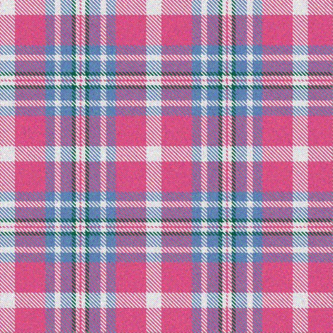 Pink and Cornflower Plaid