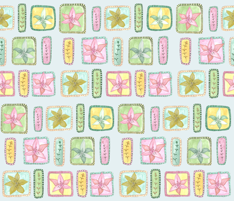 lily fabric by rhiannon_mc on Spoonflower - custom fabric
