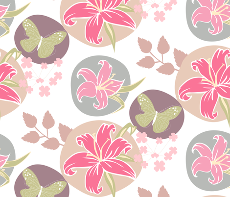 Lillies fabric by lisakubenez on Spoonflower - custom fabric